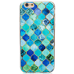 For iPhone 6 etui iPhone 6 Plus etui Andet Etui Bagcover Etui Geometrisk mønster Blødt TPU for AppleiPhone 7 Plus iPhone 7 iPhone 6s