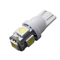 10 stuks T10 wit 168 194 501 W5W 5 smd led auto kant wig licht lamp dc 12v