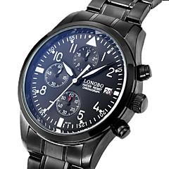 Herre Par Unisex Modeur Armbåndsur Quartz / Rustfrit stål Bånd Luksus Afslappet Sort Sølv Sort Sølv