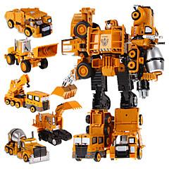 5 en 1 súper niños de plástico coches de acción robots de transformación juguetes héroe robot juguetes para niños