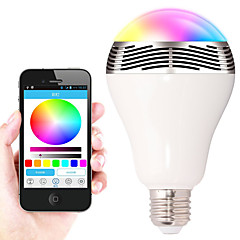 9W E27 LED APP Smart Bluetooth music bulbs  30 SMD 5050 500LM lm RGB Bluetooth / Dimmable /  AC 220-240 V 1 pcs