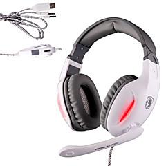 Sades SA-902C Kuulokkeet (panta)ForMedia player/ tabletti / TietokoneWithMikrofonilla / DJ / Äänenvoimakkuuden säätö / FM-radio / Gaming