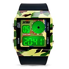 Unisexe Montre Tendance Numérique LCD / Etanche / Lumineux / Noctilumineux PU Bande camouflage Noir Marque