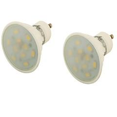 5 GU10 Focos LED MR16 10 SMD 5730 400 lm Blanco Cálido Decorativa AC 85-265 V 2 piezas