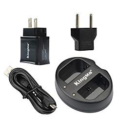 Kingma dual usb oplader til canon lp-e6 batteri og Canon EOS 5d2 5d3 70d 6d 7d 7d2 60D med usb adapter stik magt