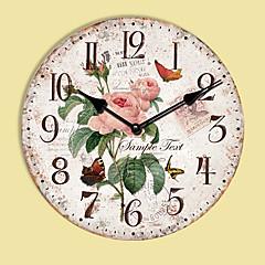 1PC European Style Pastoral Horologe Retro Clock (Pattern is Random)