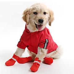 Gatos / Perros Saco y Capucha / Impermeable Rojo / Amarillo / Azul Ropa para Perro Verano / Primavera/Otoño Un Color A Prueba de Agua