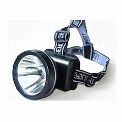 조명 헤드램프 LED 240 루멘 1 모드 LED 리튬 배터리 충전식 캠핑/등산/동굴탐험 / 일상용 / 사냥 플라스틱
