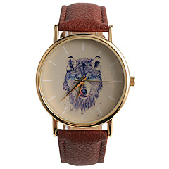 Masculino Relógio de Moda Quartz / PU Banda Casual Marrom marca