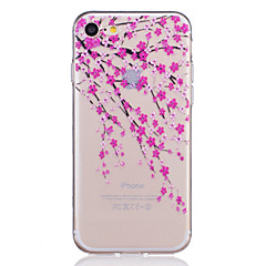TPU Material Plum Flower Pattern Painted Relief Phone Case for iPhone 7 Plus/7/6s Plus / 6 Plus/6S/6/SE / 5s / 5