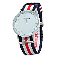 Uniseks Dress horloge Modieus horloge Kwarts / Leer Band Regenboog Cool Vrijetijdsschoenen Meerkleurig