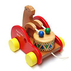 los osos de madera del tambor del niño del bebé escalada de arrastre rompecabezas para niños juguetes educativos
