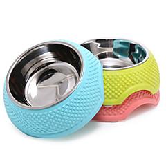 Gatto / Cane Ciotole & Bottiglie Animali domestici Ciotole e alimentazione Portatile Verde / Blu / Rosa Plastica / Acciaio Inox