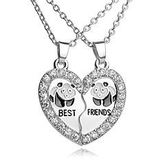 Ανδρικά Γυναικεία Για Ζευγάρια Κρεμαστά Κολιέ Στρας Επάργυρο Κράμα Heart Shape Καρδιά Μοντέρνα αρχική Κοσμήματα Ασημί ΚοσμήματαΚαθημερινά