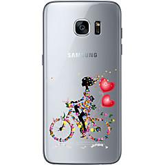 Varten Samsung Galaxy S7 Edge Läpinäkyvä / Other Etui Takakuori Etui Sydän Pehmeä TPU Samsung S7 edge / S7 / S6 edge plus / S6 edge / S6