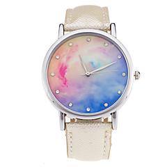 Mujer Reloj de Moda Reloj de Pulsera Cuarzo Digital Fase lunar Piel Banda Cosecha Caramelo Encanto Cool CasualNegro Blanco Verde Dorado