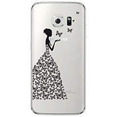 Achterkant Ultradun / Doorzichtig sexy Lady TPU Zacht Geval voor Samsung Galaxy S7 edge / S7 / S6 edge plus / S6 edge / S6 / S5 / S4