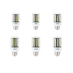 12W E14 B22 E26/E27 Żarówki LED kukurydza B 136 SMD 5733 1000 lm Ciepła biel Zimna biel Dekoracyjna AC 220-240 V 6 sztuk