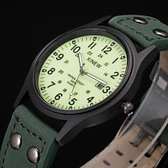 XINEW Men's Casual Watch Water Proof Calendar Quartz Watch Mens PU Leather Band Fashion Casual Clock Wrist Watch