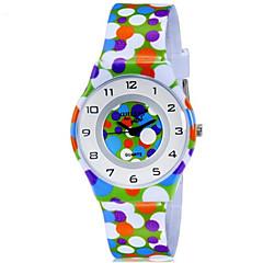 CAGARNY Dziecięce Zegarek na nadgarstek Kwarcowy Kolorowy Plastic Pasmo Kropka Słodycze Nowoczesne Na co dzień Wielokoloroe Tęczowy