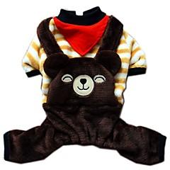 Gatos / Perros Disfraces / Abrigos / Mono / Pantalones / Arneses Beige Ropa para Perro Invierno / Primavera/Otoño AnimalVacaciones / Moda
