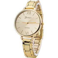 Women's Fashion Watch Wrist watch Casual Watch / Large Dial Quartz Stainless Steel Band Cool Casual Silver Gold Rose Gold