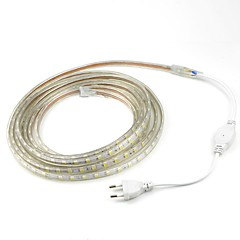 4M/1PCS  220V 5050 LED Flexible Tape Rope Strip Light Xmas Outdoor Waterproof   Garden outdoor lightingEU Plug