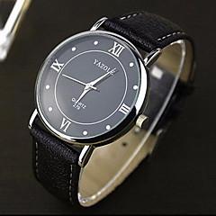 Masculino Relógio Elegante Quartz Relógio Casual Couro Banda Preta / Branco / Vermelho / Marrom marca