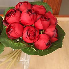 1 1 şube Polyester / Plastik Lotus Masaüstü Çiçeği Yapay Çiçekler 9*7.8inch/23*20cm