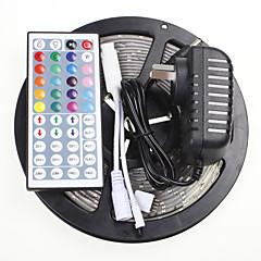 5m 16.4ft vízálló RGB 300x5630 SMD LED-es rugalmas led szalagok + 44 gombot ir 12V 2A tápegység ac100-240v