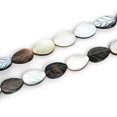 beadia természetes fekete ajak tengeri kagyló gyöngyök 10x14mm faragott levél gyöngyök (38cm / kb 27pcs)