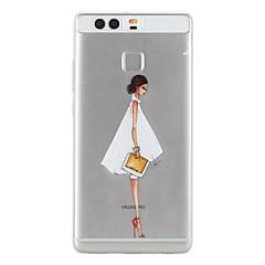 Mert Huawei tok / P9 / P9 Lite Minta Case Hátlap Case Szexi lány Puha TPU Huawei Huawei P9 / Huawei P9 Lite
