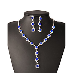Jewelry Set Women's Wedding / Gift / Party Jewelry Sets Alloy Rhinestone Necklaces / Earrings Silver