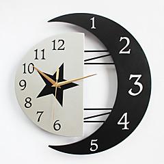 Modern / Contemporary Domy Zegar ścienny,Inne Metal / Drewno 32*31CM Domowy Zegar