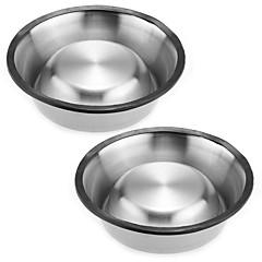 Cachorro Comedouro Animais de Estimação Tigelas e alimentação de animais Portátil / Casual Prateado Aço Inoxidável