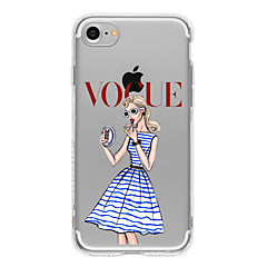 For iPhone 7 etui iPhone 7 Plus etui iPhone 6 etui Mønster Etui Bagcover Etui Sexet kvinde Blødt TPU for AppleiPhone 7 Plus iPhone 7