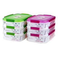 Contenedores yooyee de múltiples compartimentos contenedores de alimentos frescos (1.75L * 3p)