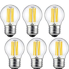 kwb 6 Pcs 6W E26/E27 LED Filament Bulbs G45 6 COB 560 lm Warm White Decorative(220-240V)