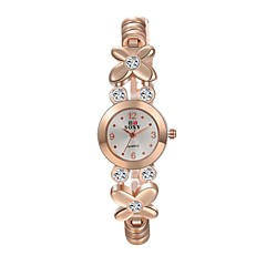 Women's Fashion Watch Casual Watch Water Resistant / Water Proof Quartz Alloy Band Flower Casual Elegant Gold