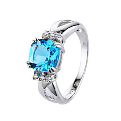 Ring AAA Cubic Zirconia Zircon Cubic Zirconia Simple Style Fashion Blue Light Blue Jewelry Wedding Party Halloween Daily Sports 1pc