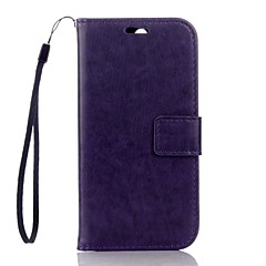For HTC One M8 Case Wallet Card Holder with Stand Case Full Body Case Solid Color Hard PU Leather