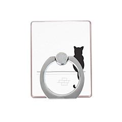 Telefonholderstativ Skrivebord / Udendørs Ringholder / 360° Rotation Plastik for Mobiltelefon
