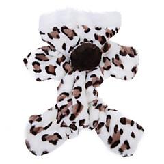 Γάτα Σκύλος Φούτερ με Κουκούλα Φόρμες Πυτζάμες Ρούχα για σκύλους Χαριτωμένο Καθημερινά Λεοπαρδαλί Καφέ Ροζ