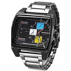Herren Sportuhr / Militäruhr / Kleideruhr / Modeuhr / Armbanduhr Japanischer QuartzKalender / Wasserdicht / Drei-Zeit-Zonen / Stopuhr /