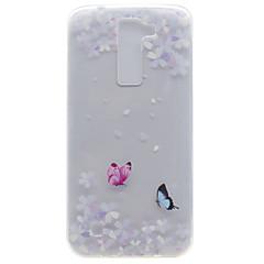 For Transparent Mønster Etui Bagcover Etui Sommerfugl Blødt TPU for LG LG K10 LG K8 LG K7 LG Nexus 5X LG X Power