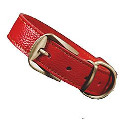 honden Kraag Verstelbaar/Uitschuifbaar Effen Rood / Zwart / Bruin PU Leder