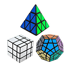 Shengshou® Pürüzsüz Hız Küp Pyraminx / Alien / Megaminx Aynalı / profesyonel Seviye Sihirli Küpler Siyah Solmaya pürüzsüz StickerAnti-pop