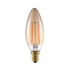 2W E12 LED Filament Bulbs B10 2 COB 160 lm Amber Dimmable / Decorative 120V 1 pcs