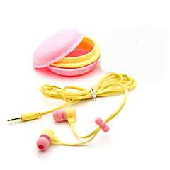 3.5mm אוזניות אוזניות אוזניות macaron מתנת יום הולדת איכותית