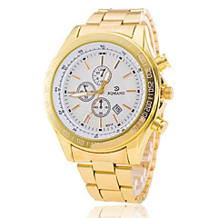 Męskie Do sukni/garnituru Modny Zegarek na nadgarstek Kwarcowy Kalendarz Stop Pasmo Złoty White Black Niebieski